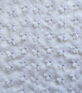 Sew Sweet 3D Flowers with Foil Fabric -White