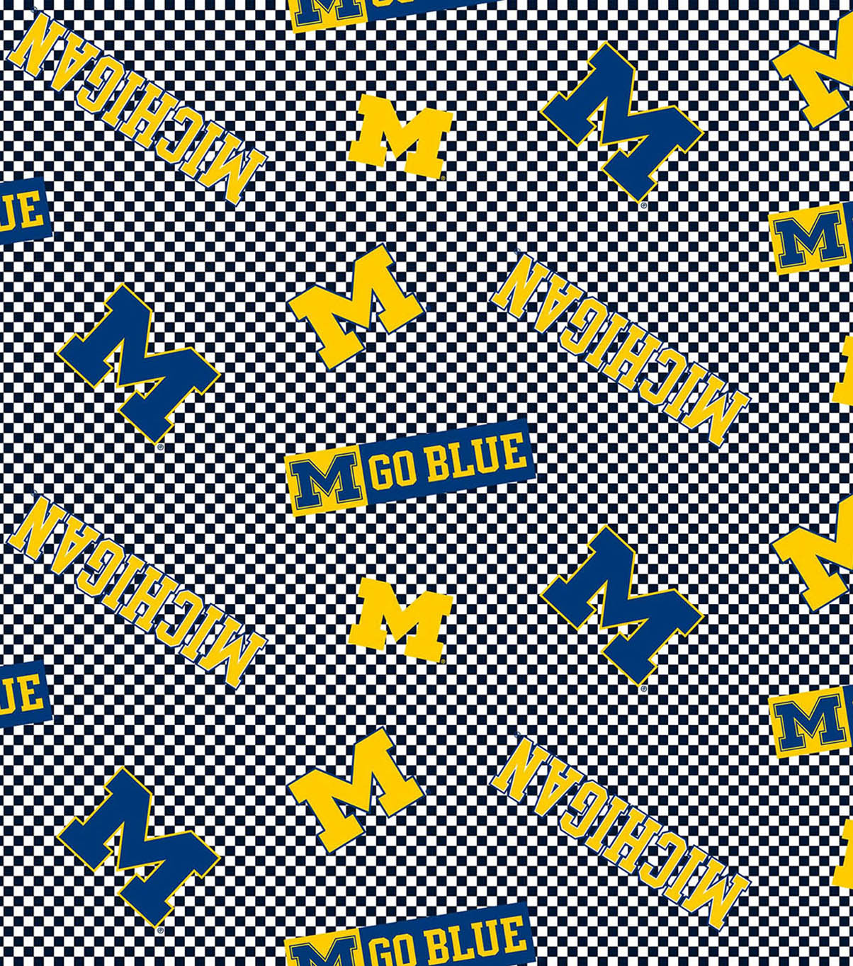 University of Michigan Wolverines Cotton Fabric -Tossed