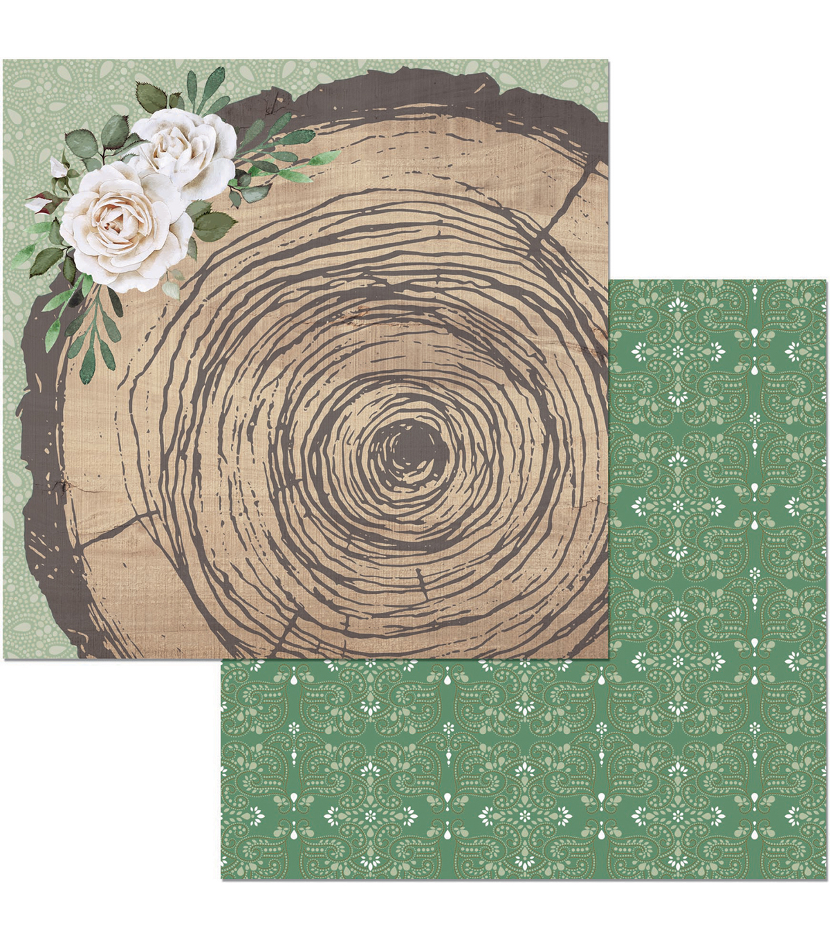 Garden Party Double-Sided Cardstock 12\u0022X12\u0022-Rustic