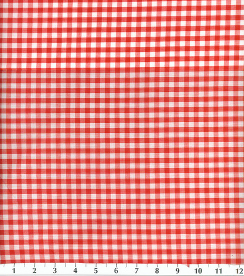 Homespuns Cotton Fabric -Red