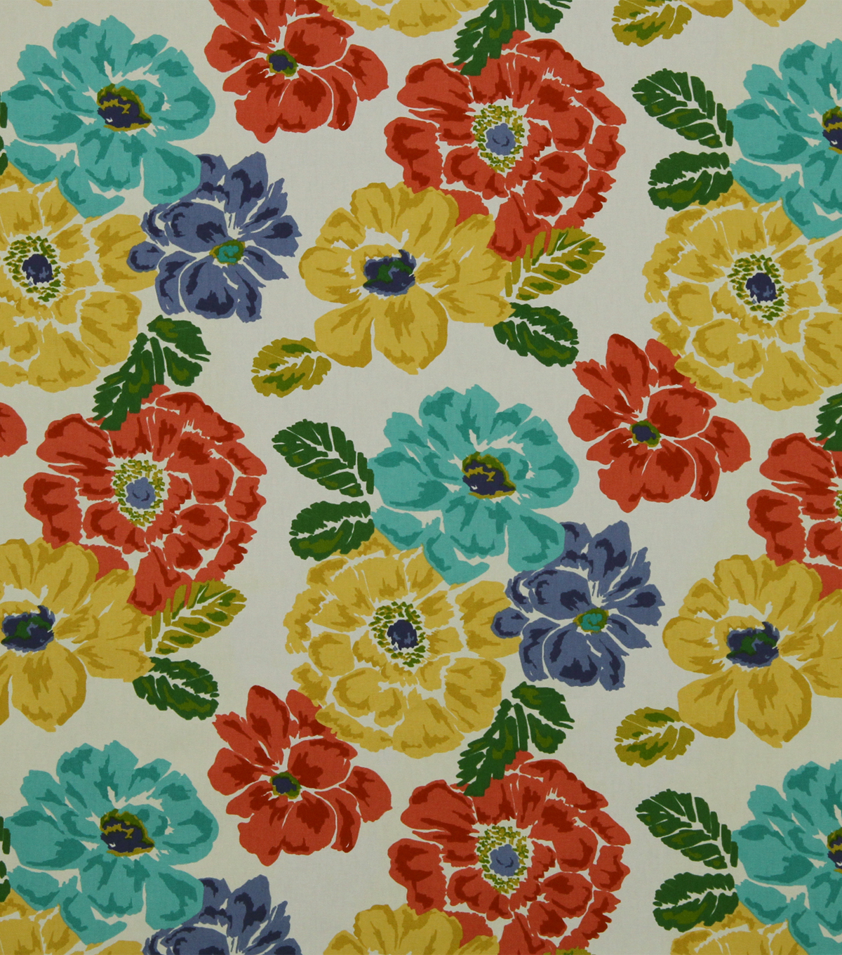 Home Decor 8\u0022x8\u0022 Fabric Swatch-Robert Allen Brushed Floral Calypso