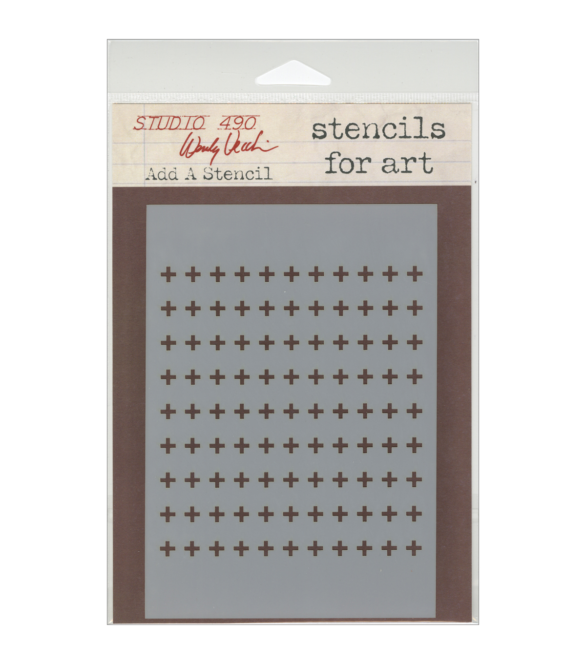 Stampers Anonymous Wendy Vecchi Studio Stencil-Add A Stencil