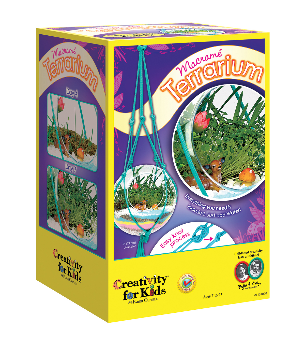 Creativity for Kids Macrame Terrarium Kit