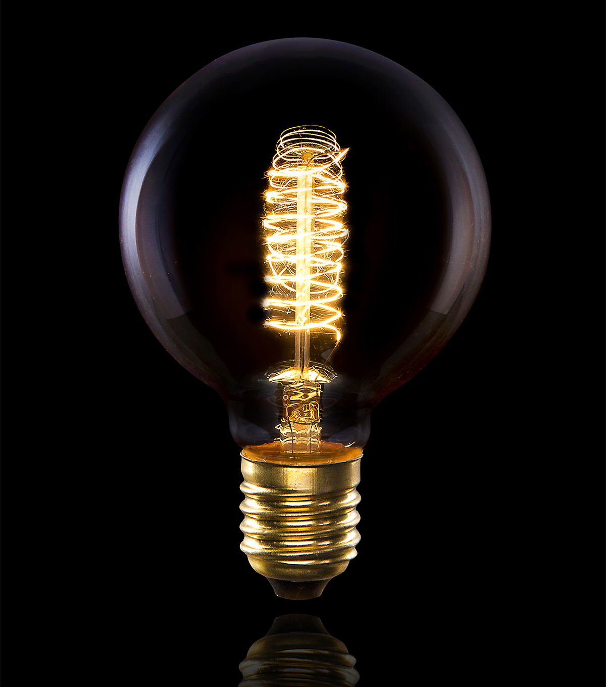 Hudson 43 Edison Bulb Globe with Double Swirl Filament