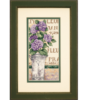 Dimensions Gold Collection Counted Cross Stitch Hydrangea Floral Petite