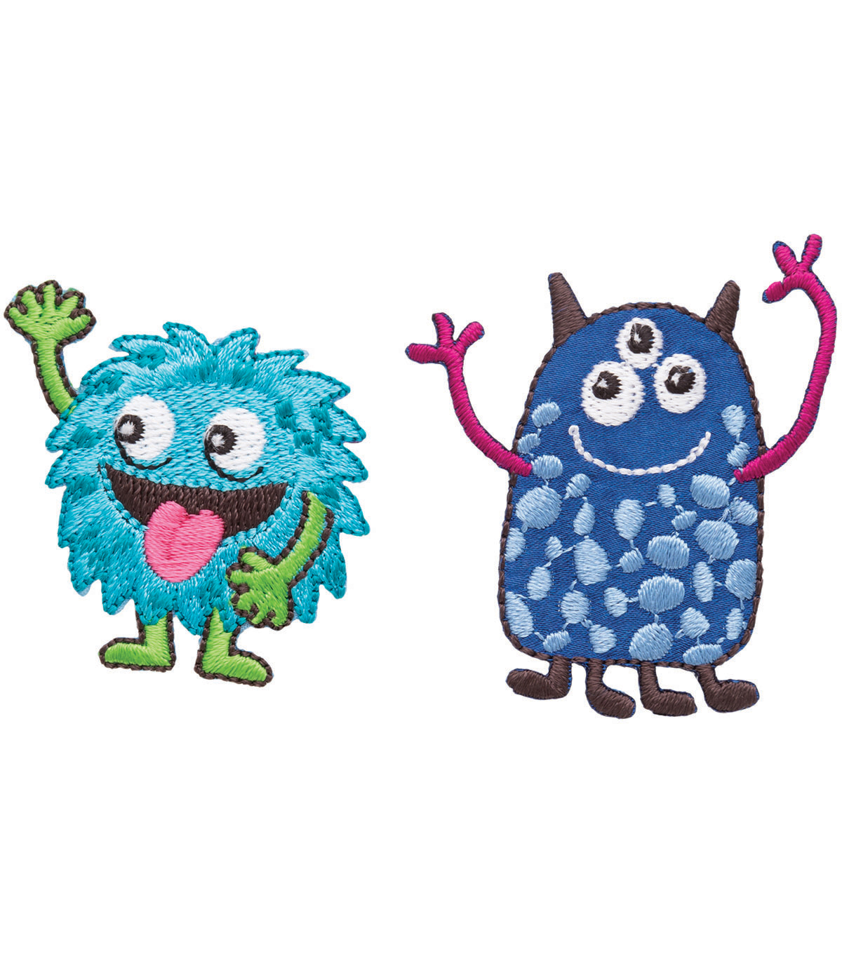 Simplicity Iron-On Applique-2/Pkg-Friendly Monsters