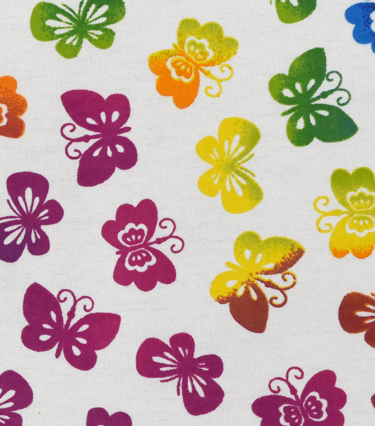 Snuggle Flannel Fabric -Rainbow Butterflies