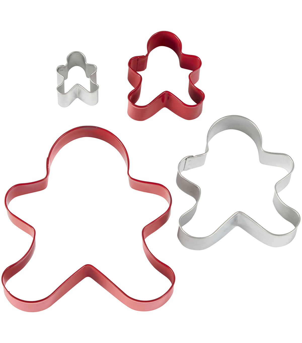 Handmade Holiday Baking Wilton 4 pk Metal Gingerbread Cookie Cutters