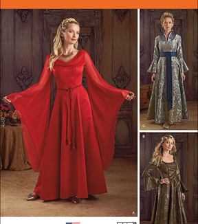 Simplicity Patterns 1045-Misses\u0027 Fantasy Costumes, Sizes 14-16-18-20