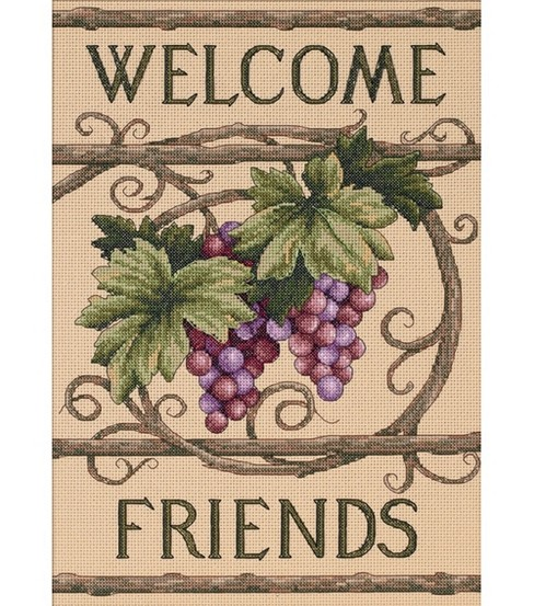 Dimensions Welcome Friends Counted Cross Stitch Kit
