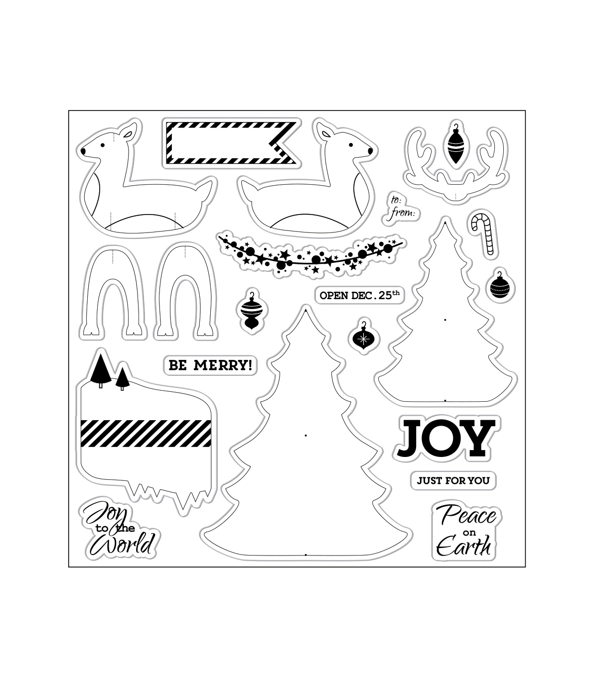 Fiskars Clear Stamps-Holiday Party