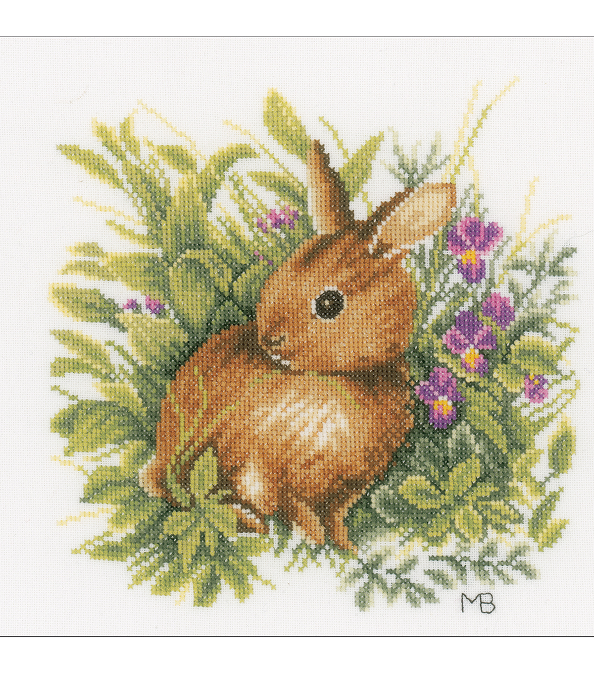 LanArte 9\u0027\u0027x9\u0027\u0027 Cotton Counted Cross Stitch Kit-Hare