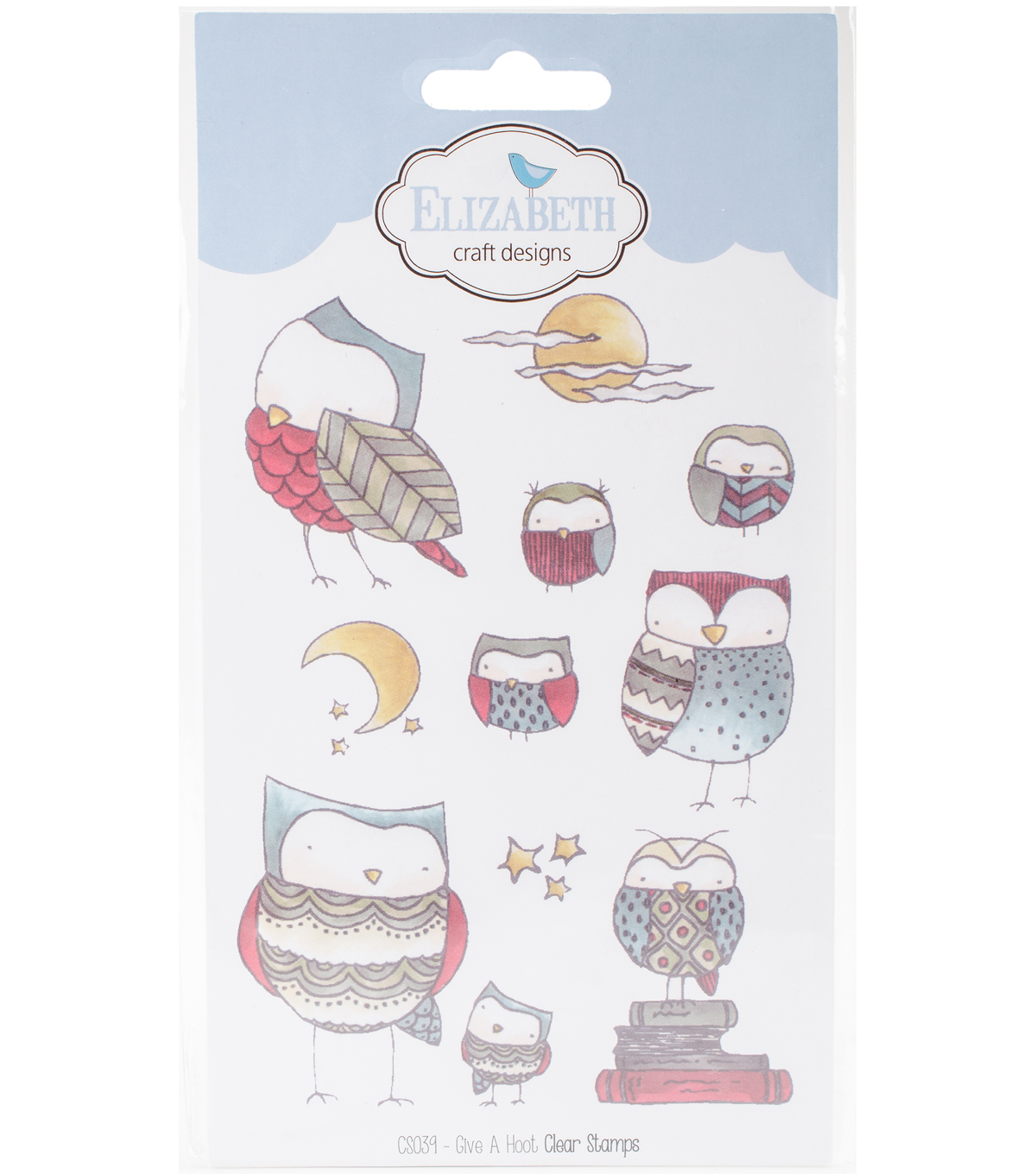 Elizabeth Craft Designs 10 pk Clear Stamps-Give A Hoot