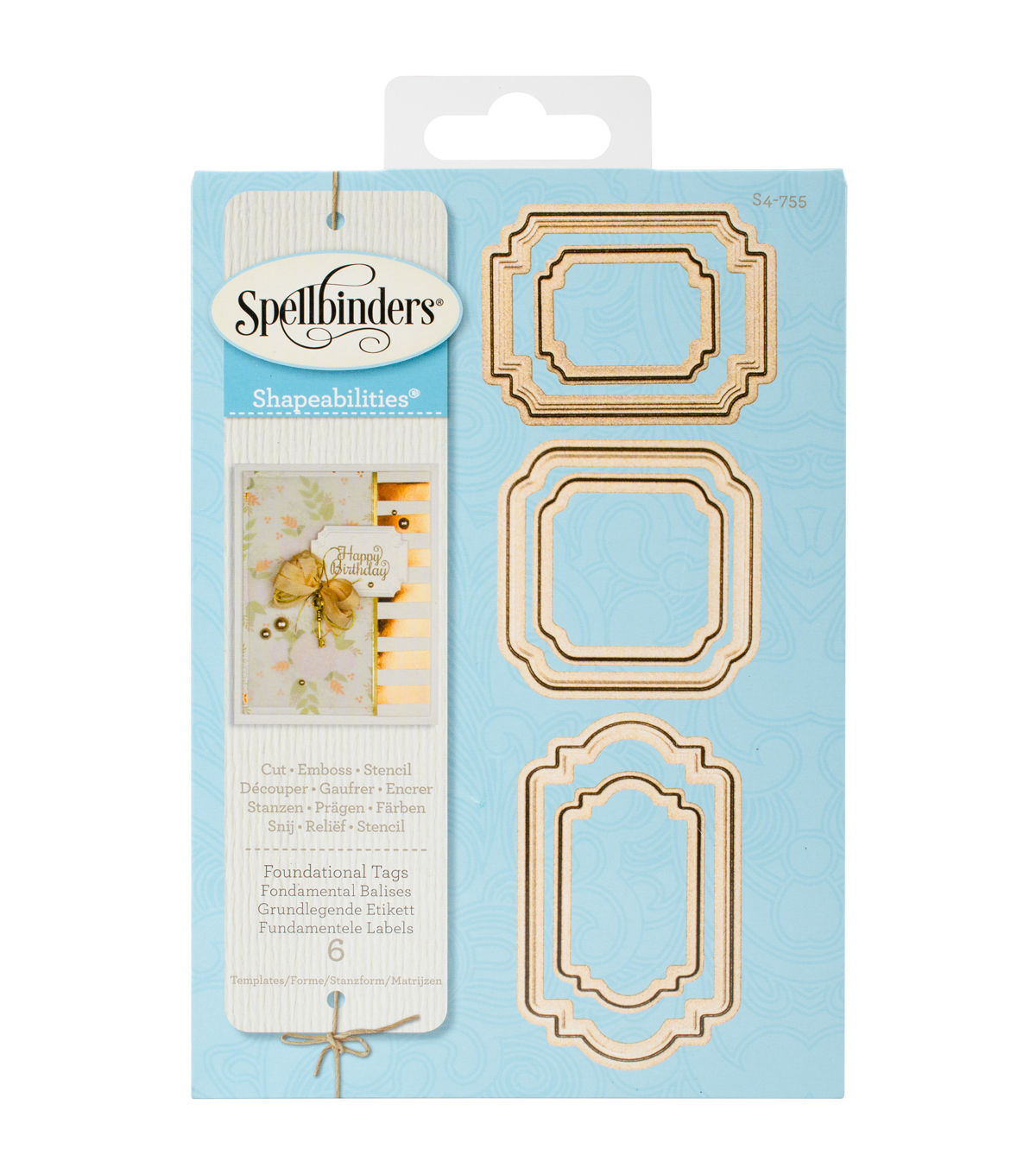 Spellbinders Shapeabilities Etched Die-Foundational Tags