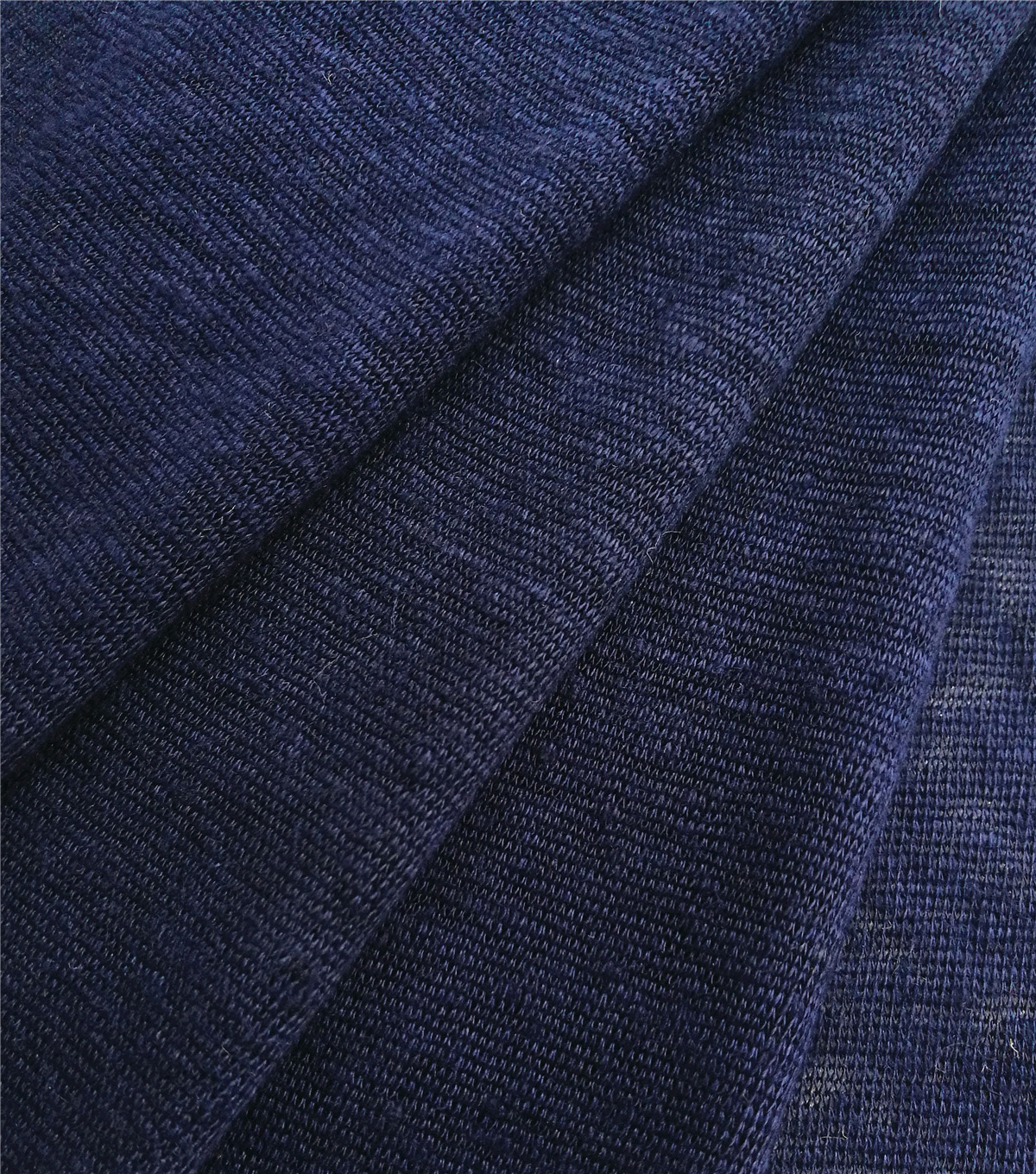 Coastal Lagoon Slub Linen Knit Fabric-Navy
