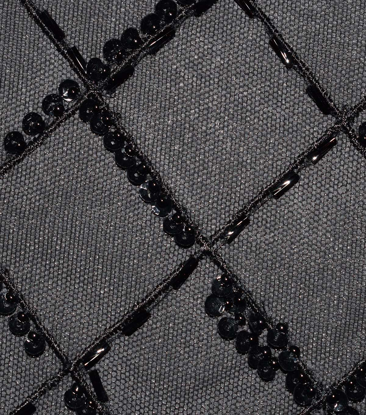Gianna Hand-Beaded Lattice on Mesh Fabric 51\u0027\u0027