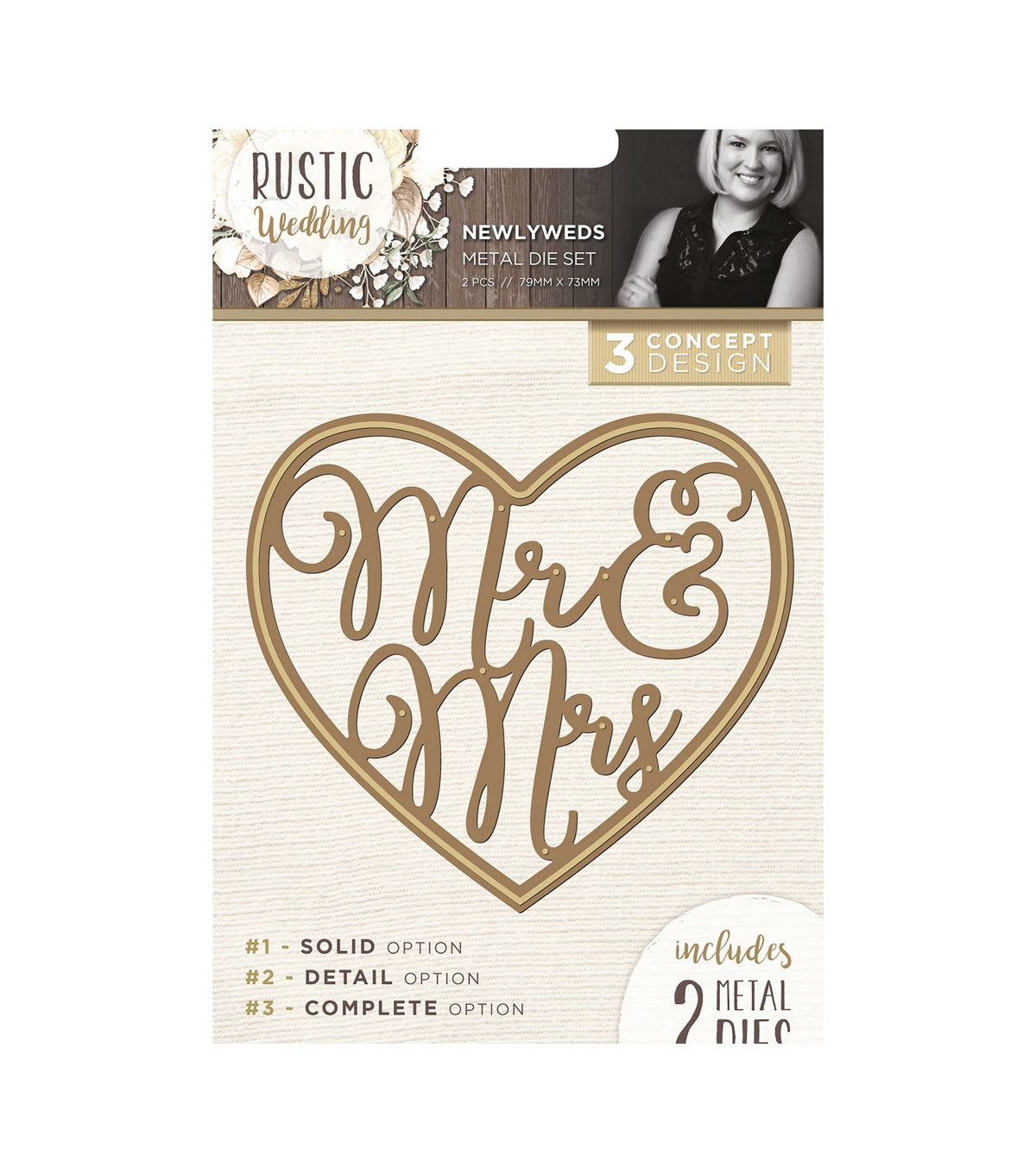 Crafter\u0027s Companion Sara Davies Signature Rustic Wedding Dies-Newlyweds
