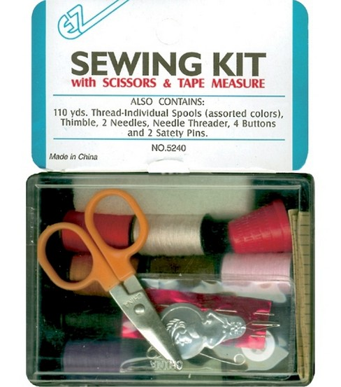 Wrights EZ Sewing Kit With Scissors & Tape Measure