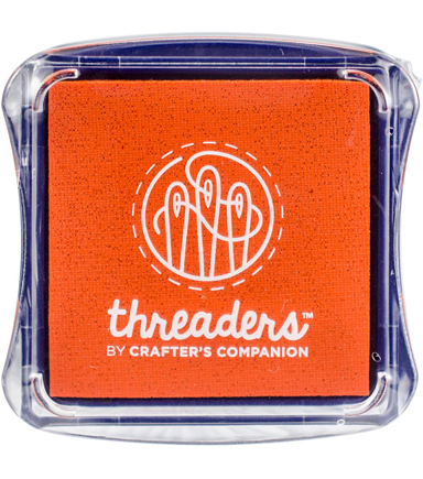 Crafter\u0027s Companion Threaders Fabric Ink Pad, Orange