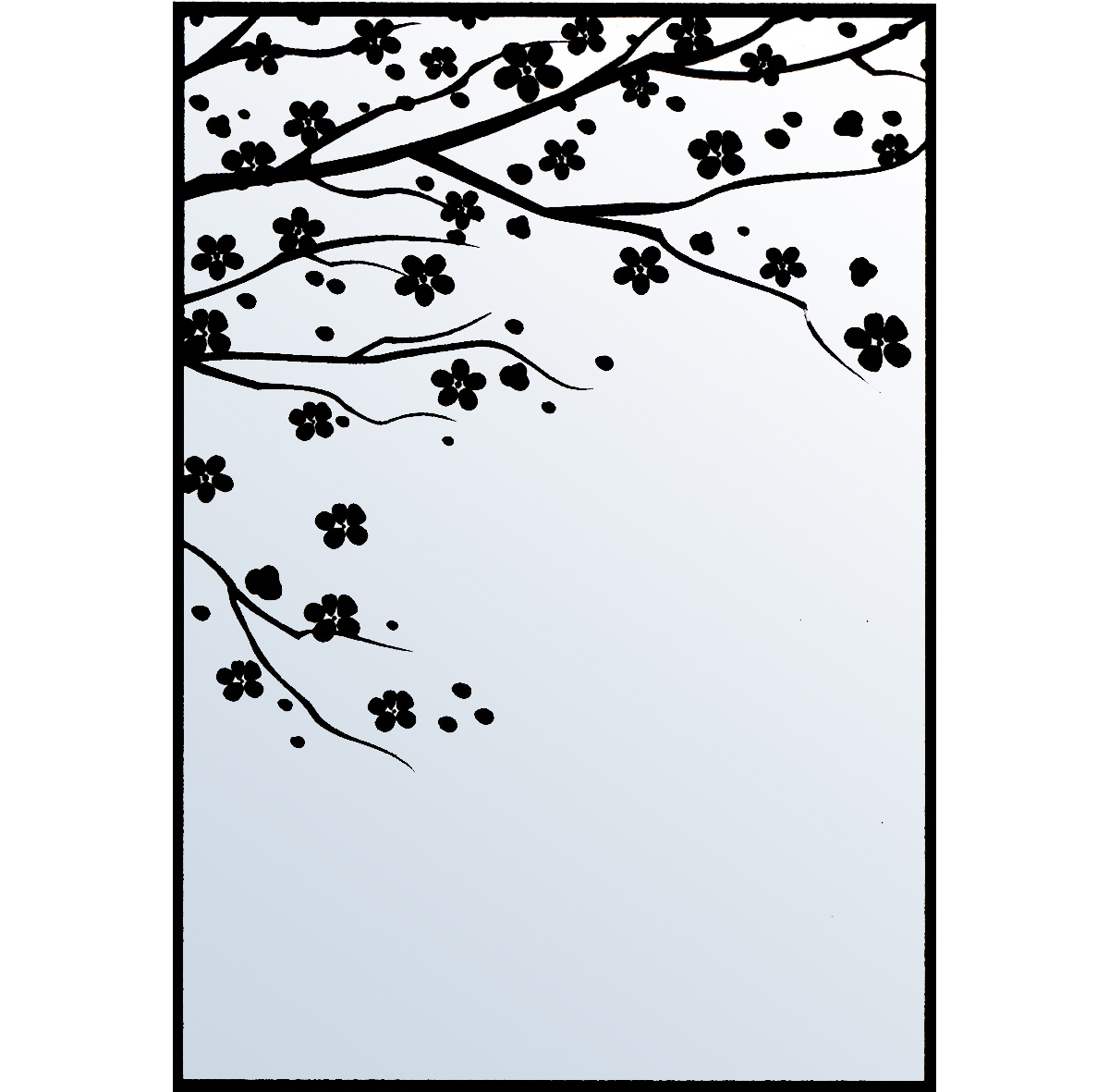 Nellie Snellen Embossing Folder Cherry Blossom