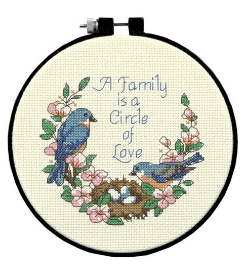 Dimensions Learn-A-Craft Counted Cross Stitch Kit Family Love