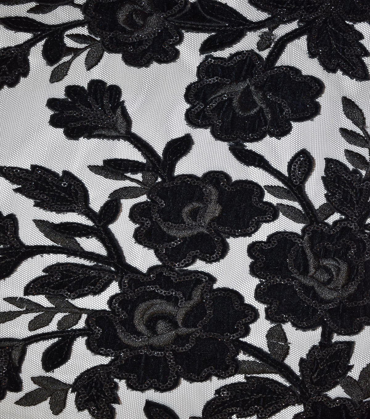 Casa Collection Solid Tulle Fabric 57\u0027\u0027, Black