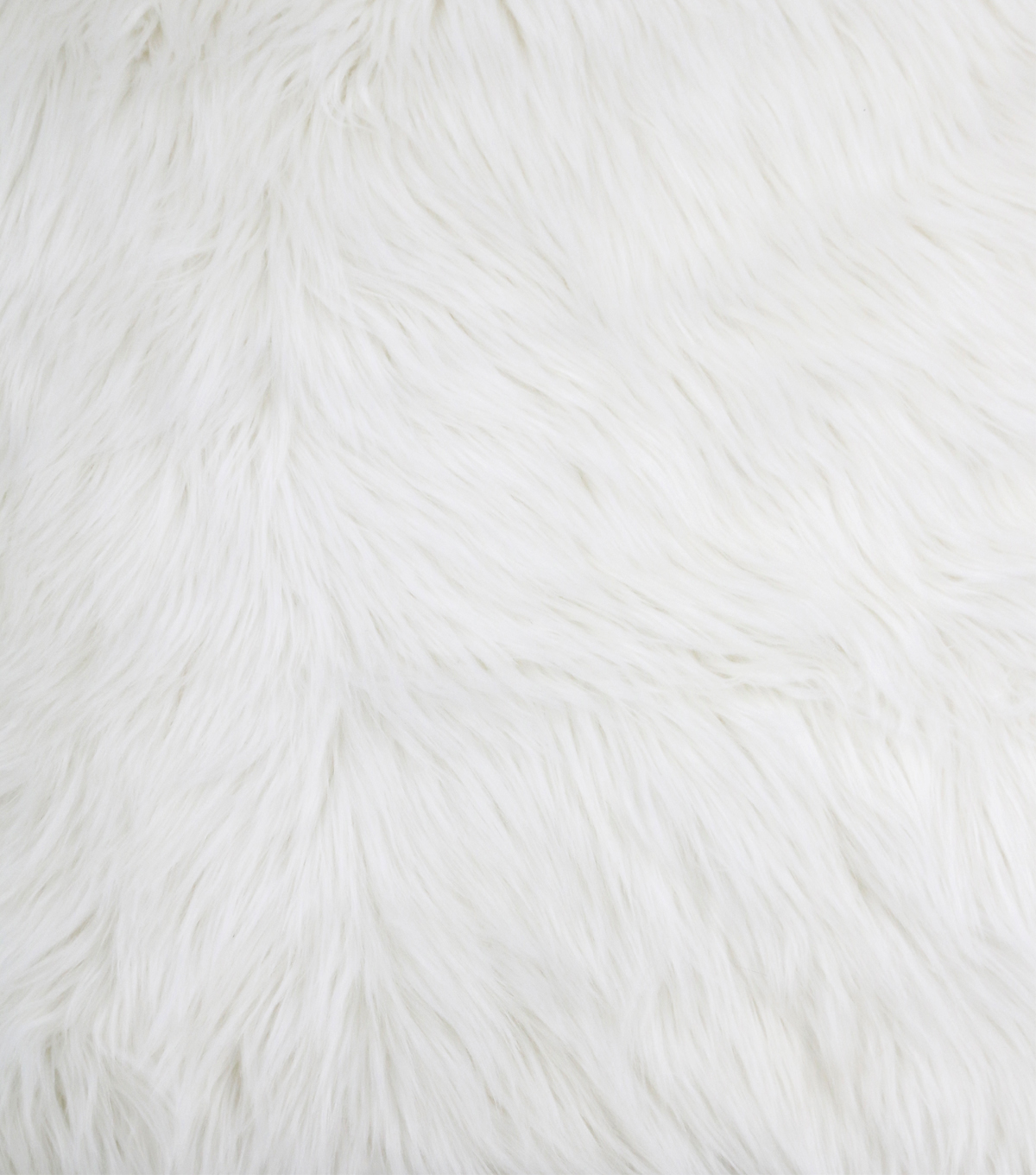 Luxury Faux Husky Fur Fabric White