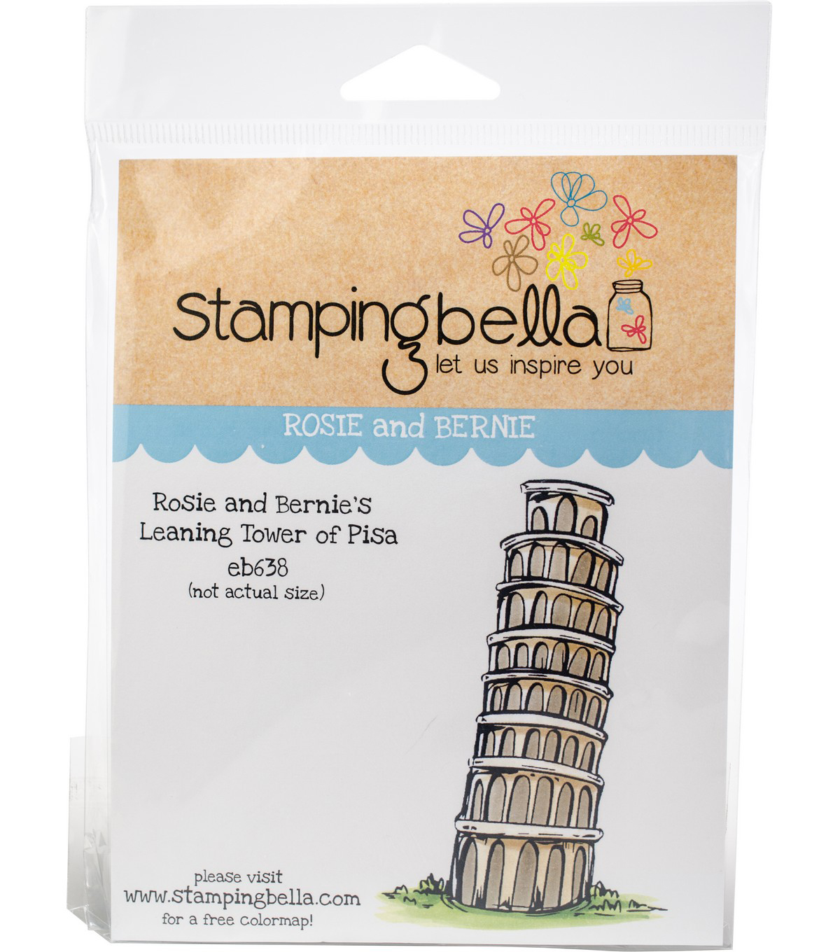 Stamping Bella Cling Stamps-Rosie & Bernie\u0027s Tower Of Pisa