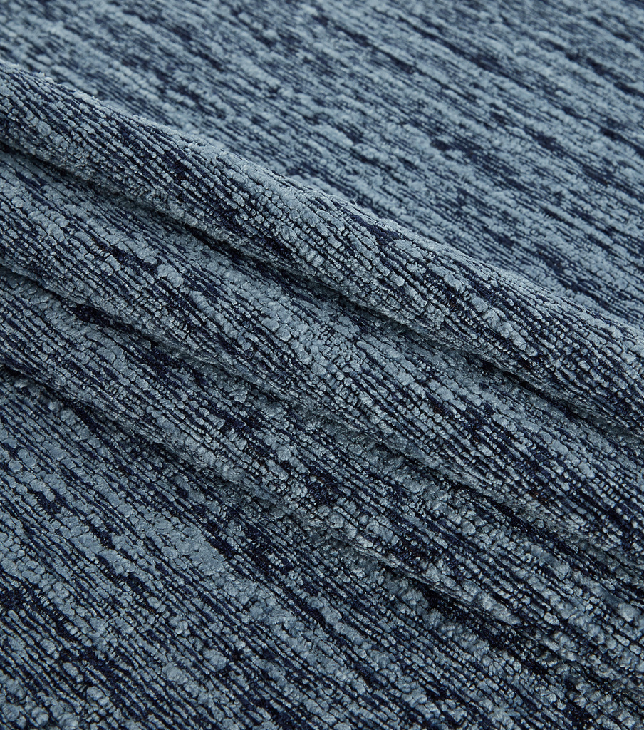Lightweight Décor Fabric-Heavy Blue Chenille Jacquard