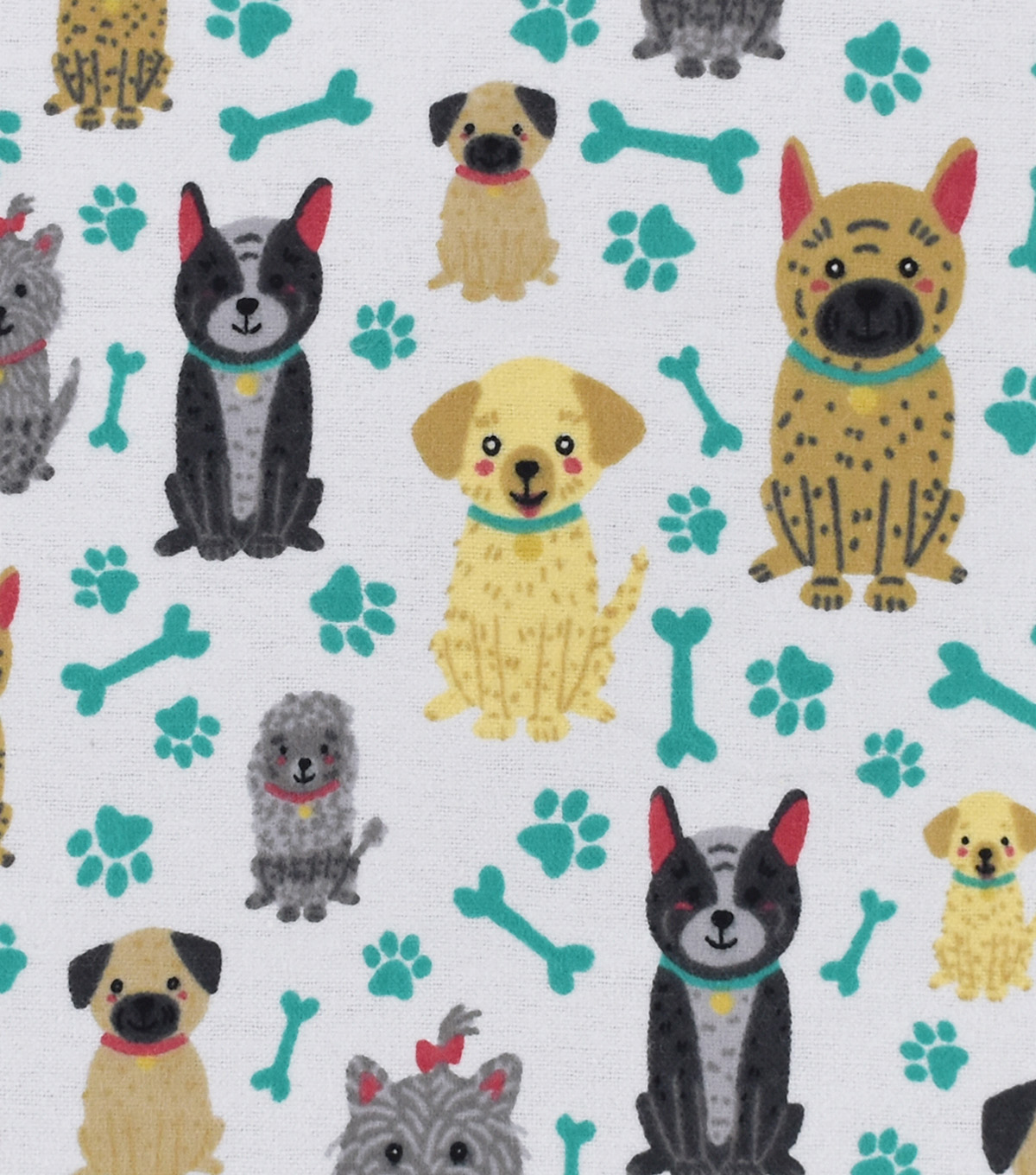 Snuggle Flannel Fabric -Sitting Pretty Pups