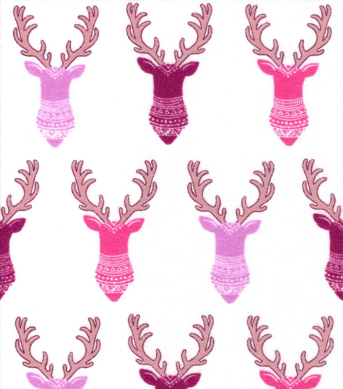 Snuggle Flannel Fabric -Bright Tribal Stag