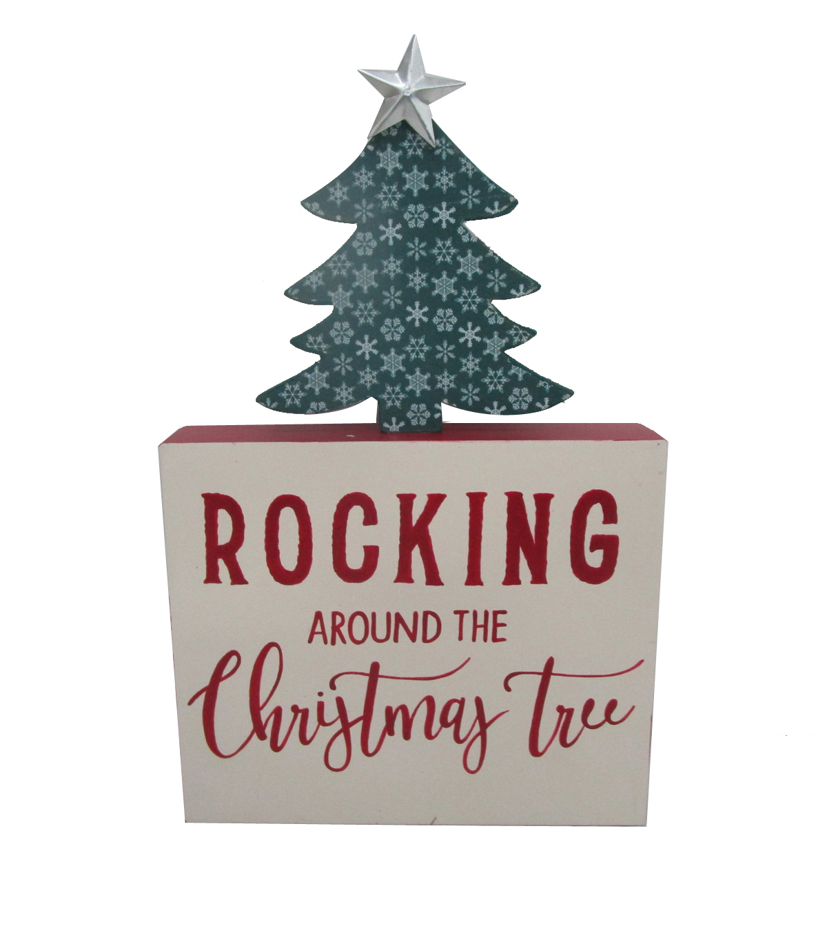 Maker\u0027s Holiday Christmas Word Block-Rocking Around the Christmas Tree