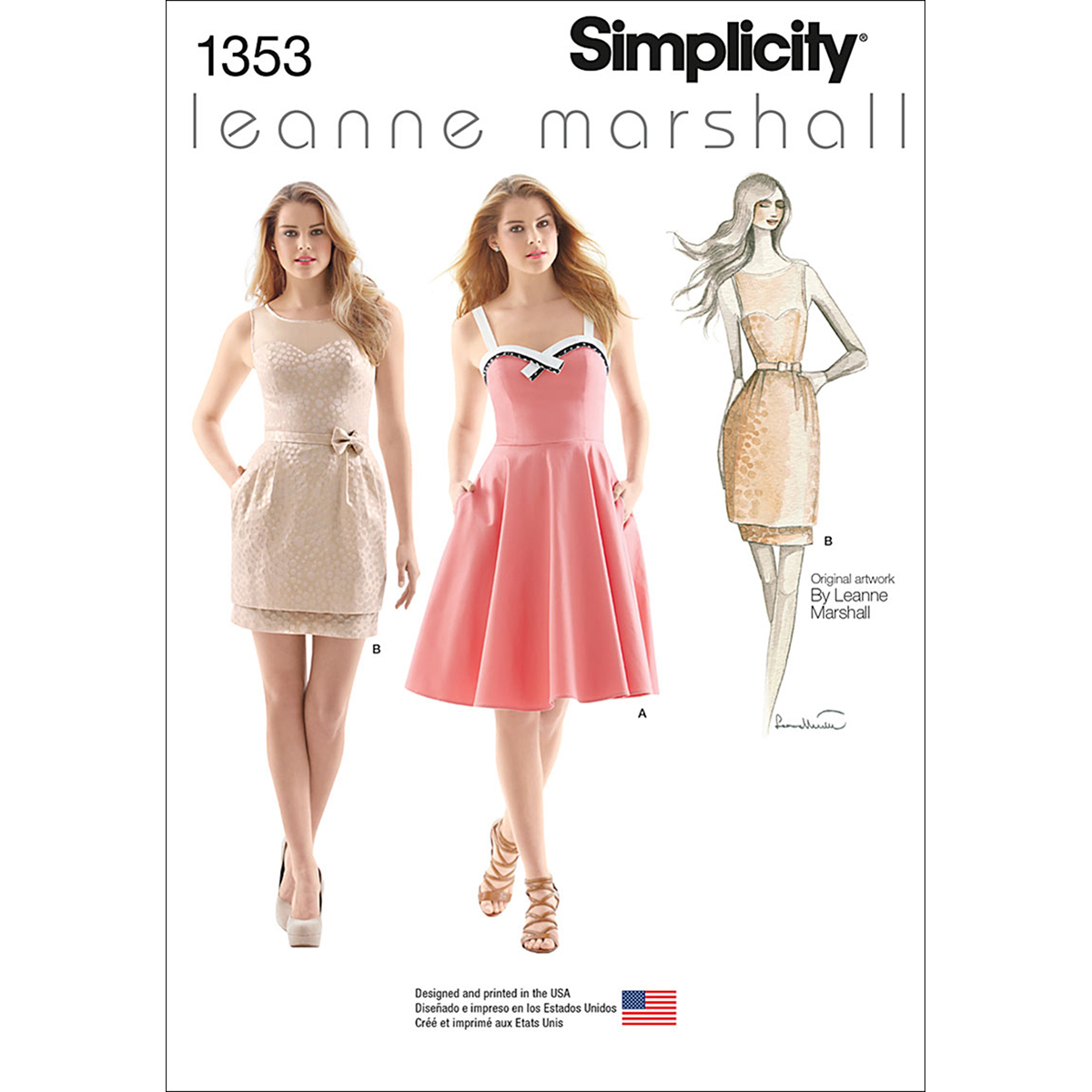 Simplicity Pattern 1353P5 12-14-16-1-Misses Special Occas