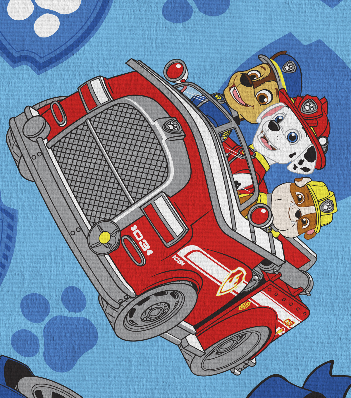 Disney Junior Paw Patrol Flannel Fabric -Rev Up