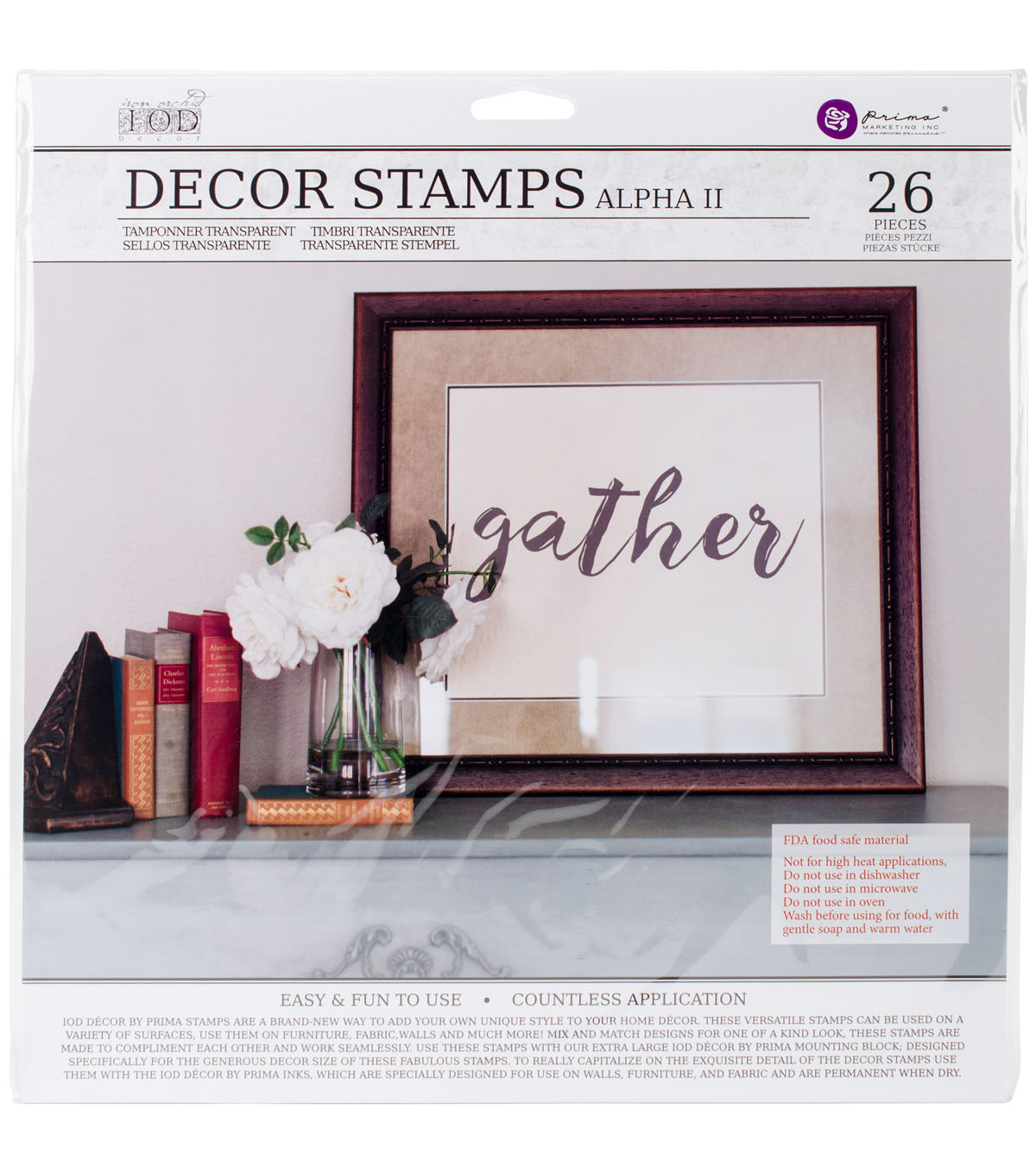 Prima Marketing Iron Orchid Designs 26 pk Decor Clear Stamps-Alpha #2