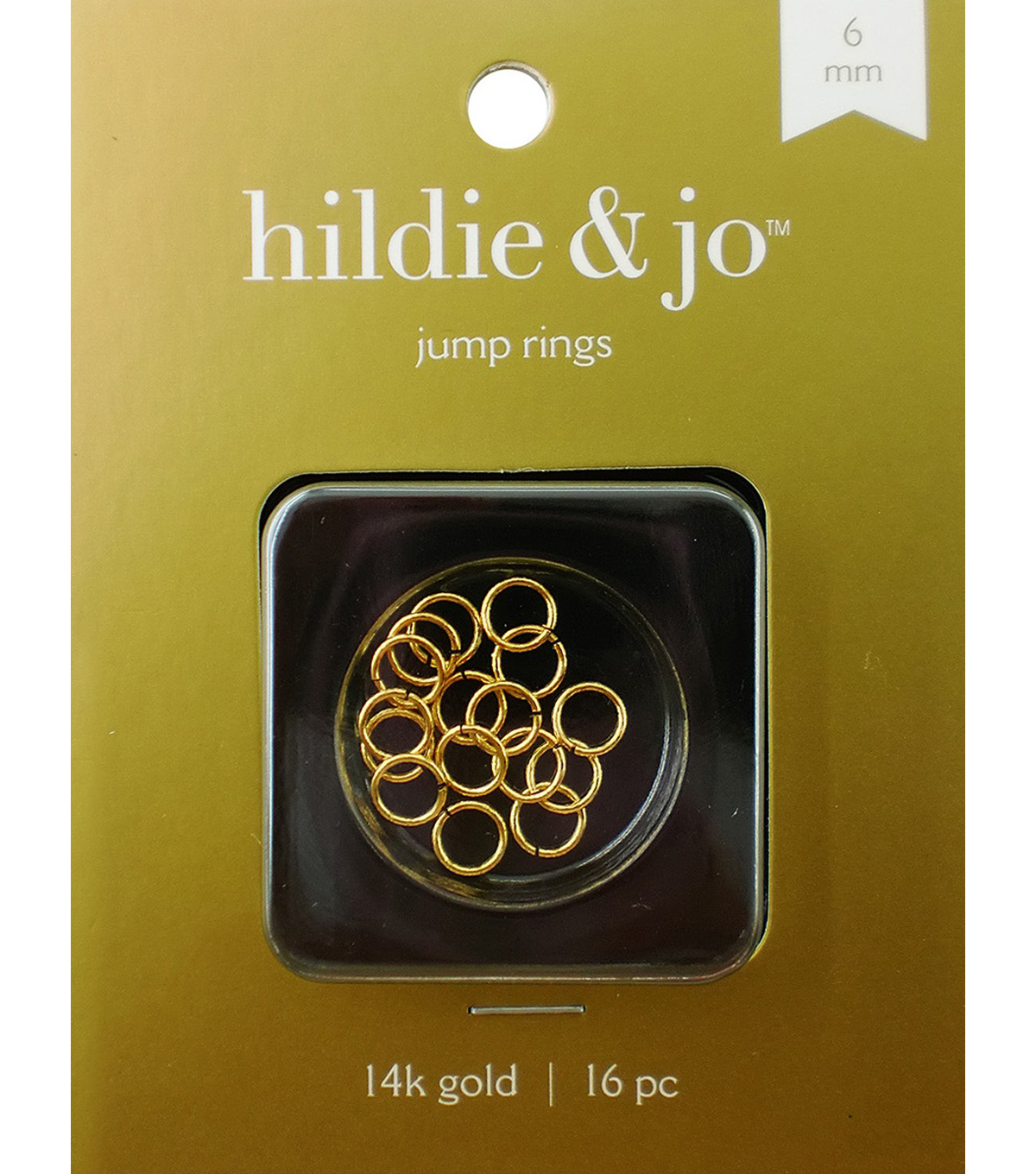 Cousin 6mm Gold Elegance Open Jump Ring-20PK/14K Gold Plated