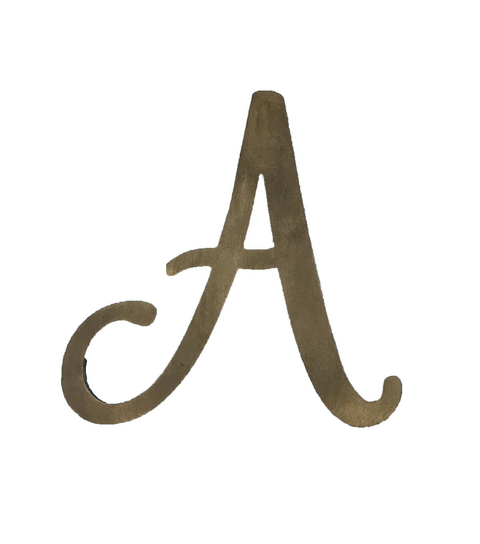 Fab Lab Craft 8'' Wood Script Letter Rustic | JOANN