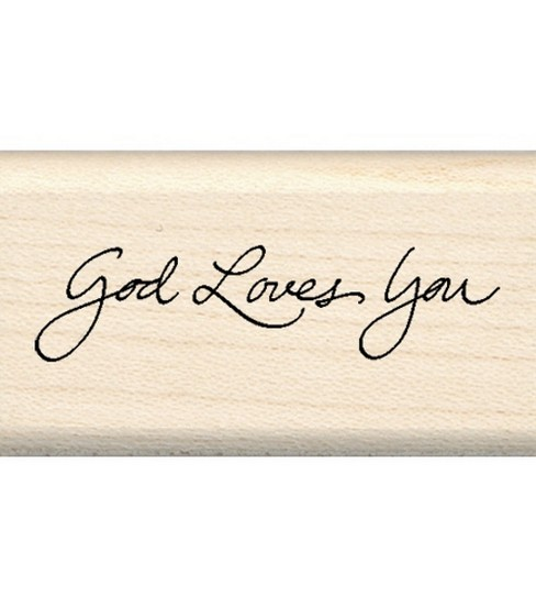Inkadinkado Rubber Stamp-God Loves You