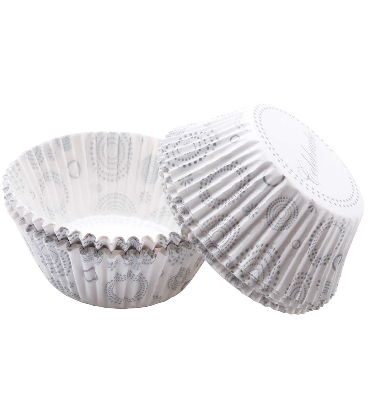 Wilton Baking Cups-75PK/Celebrate Silver