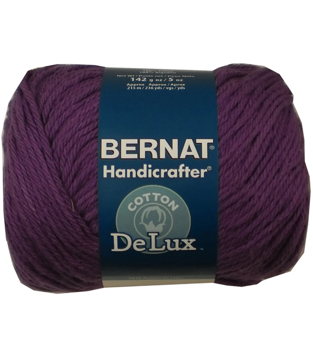 Bernat Handicrafter DeLux Cotton Yarn, Purple