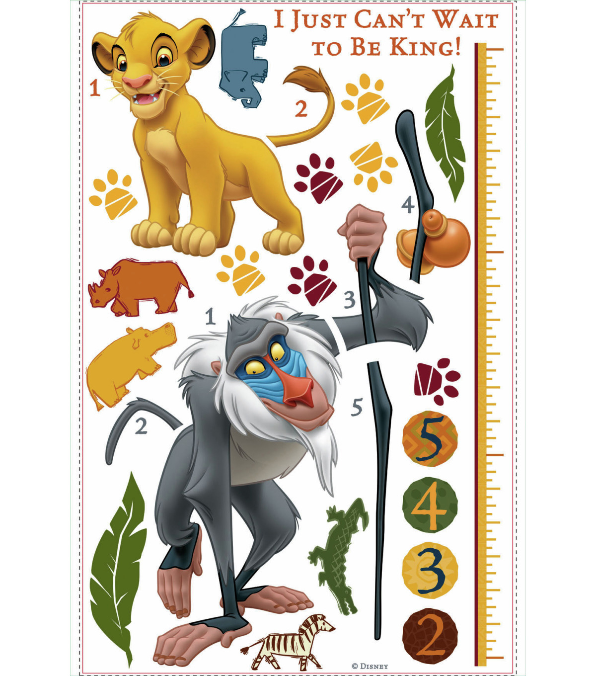 York Wallcoverings Wall Decals-The Lion King Rafiki