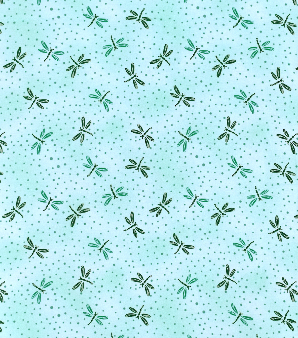 Snuggle Flannel Fabric-Blue Dragon Fly Tossed