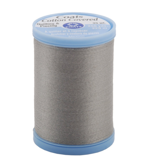 Coats & Clark Cotton Covered Quilting & Piecing Thread 250 Yards , 450 Nugrey