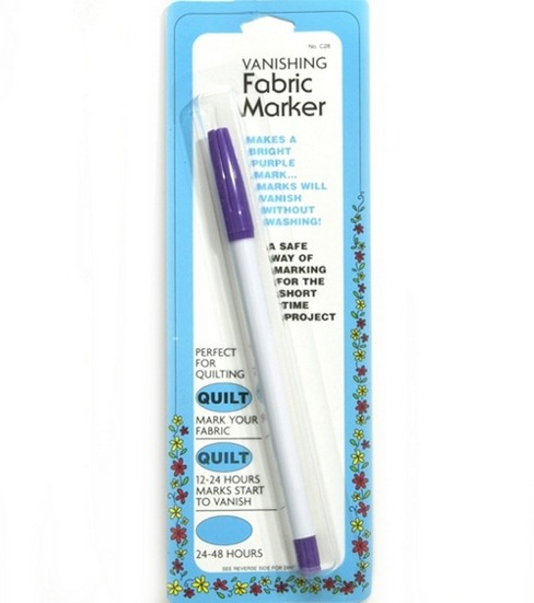 Collins Vanishing Fabric Marker Purple
