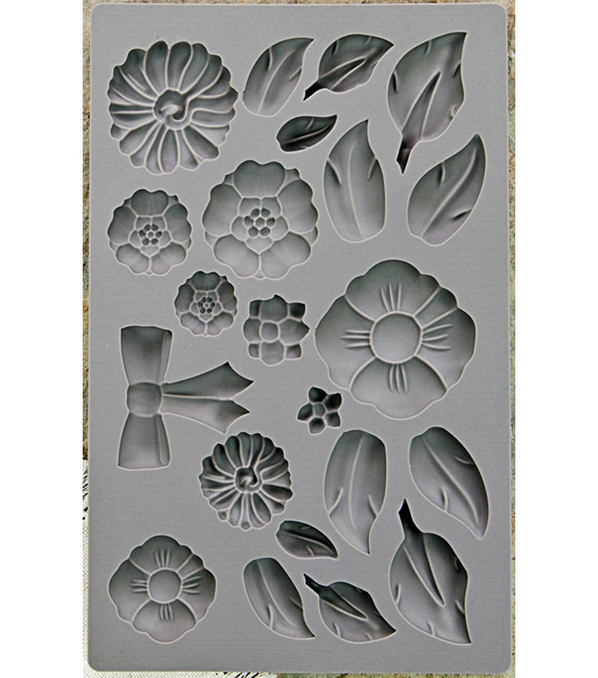 Iron Orchid Designs Vintage Art Decor Mould 5\u0022X8\u0022-Rustic Fleur