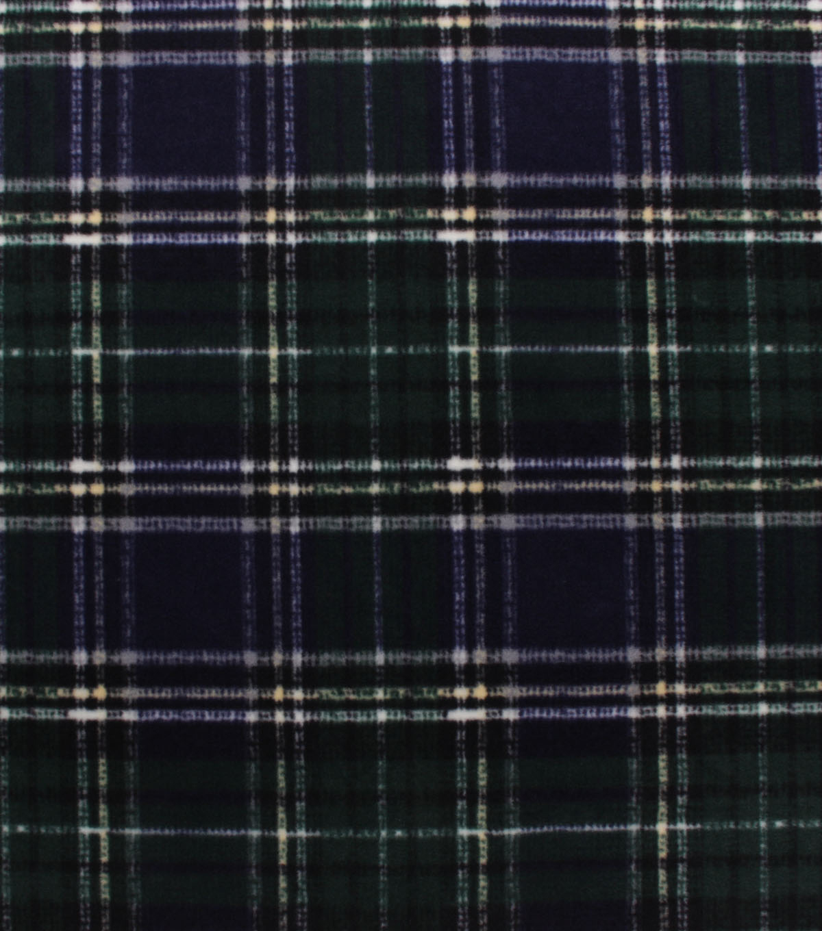 Anti-Pill Plush Fleece Fabric-Navy Green Distressed Plaid