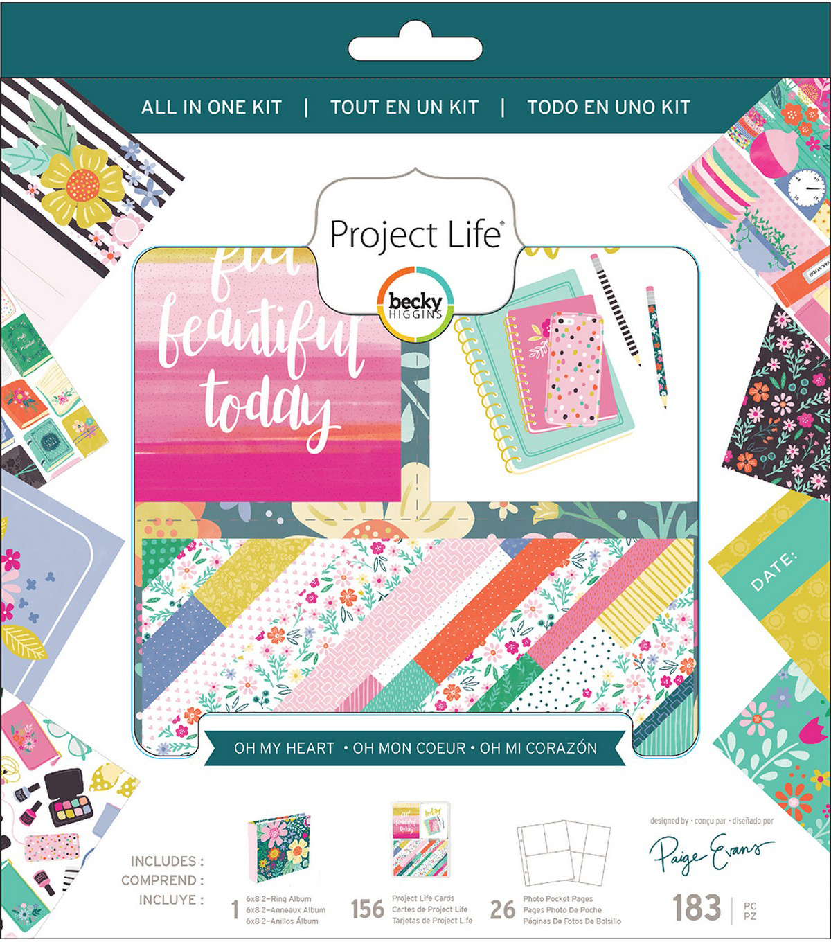 Project Life All-In-One Album Kit-Paige Evans Oh My Heart