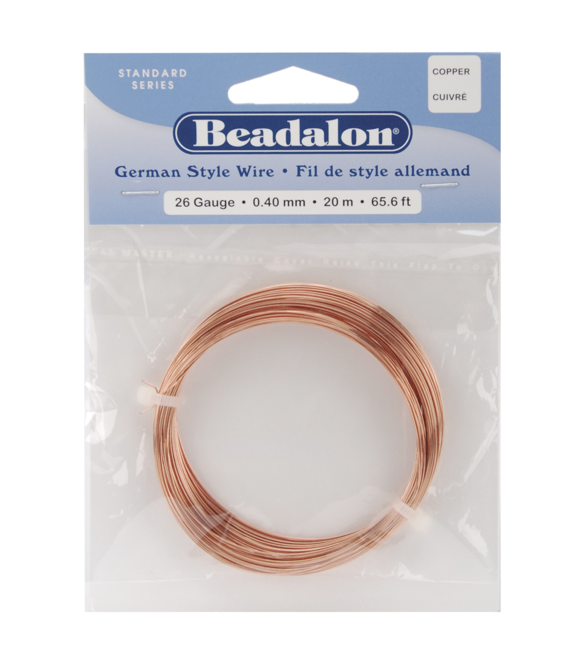 German Style Round Wire 26 Gauge 65.5 FeetPK-Copper