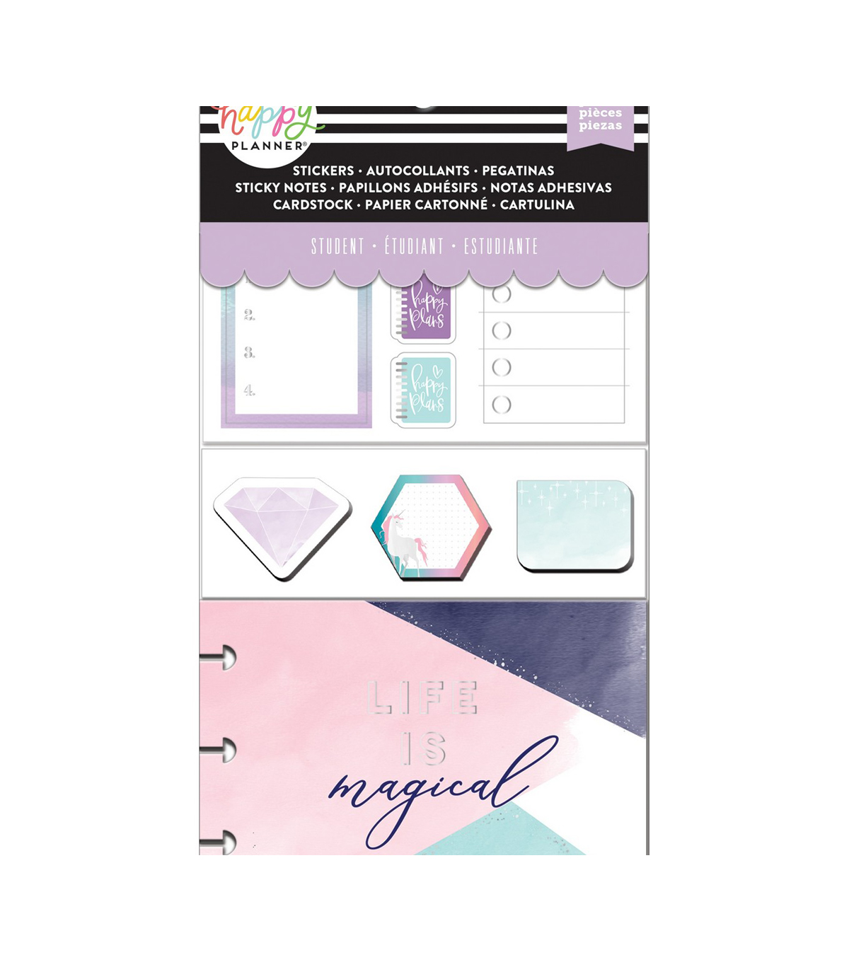 Happy Planner Note Cards/Sticky Note Multi Pack-Magical (student)