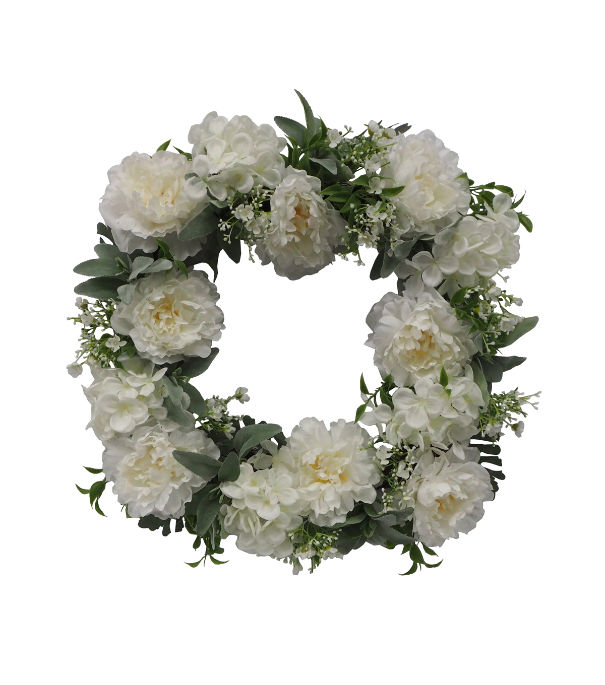 Fresh Picked Spring 22\u0027\u0027 Flower Square Wreath-White